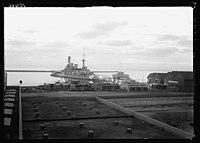 War-ship in the Haifa harbour LOC matpc.22455.jpg
