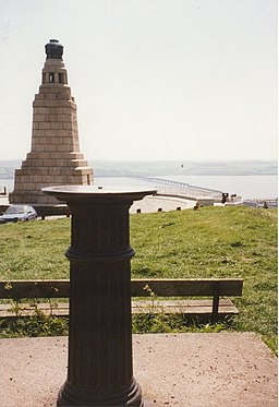 War Memorial and View Indicator at the top of Dundee Law - geograph.org.uk - 951389
