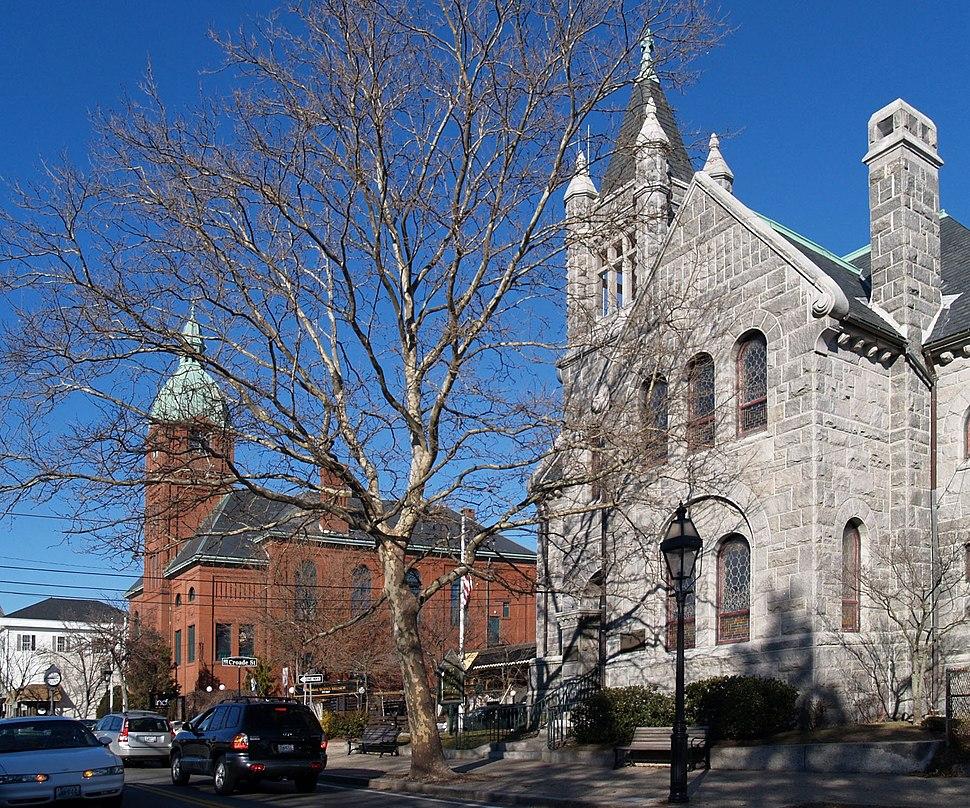 Main Street, Warren, Rhode Island, USA