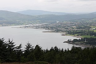 "Warrenpoint from <a href=""http://search.lycos.com/web/?_z=0&q=%22Mourne%20Mountains%22"">Slieve Martin</a> on the County Down side of Carlingford Lough"