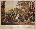 Washington's grand entry into New York, Nov. 25th, 1783. Scene junction 3d Ave. and the Bowery (NYPL Hades-1784723-1650645).jpg