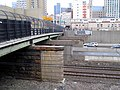 Washington Street Elevated bridge piers across Worcester Line, March 2015.JPG