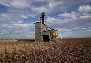 Nolan County, Texas - Abandoned grain elevator in Wastella.