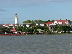 Waterkant as seen from Suriname river