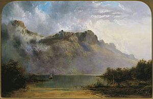 Mount Olympus (Tasmania) - Mount Olympus, Lake St Clair, Tasmania, the source of the Derwent
