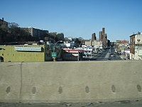 Webster Avenue as seen from Cross Bronx Expressway