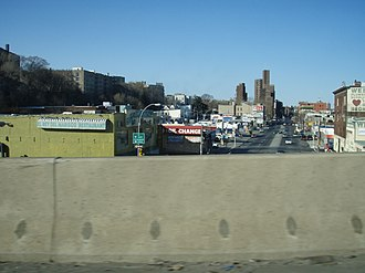 Webster Avenue - Webster Avenue in Tremont, as seen from Cross Bronx Expressway