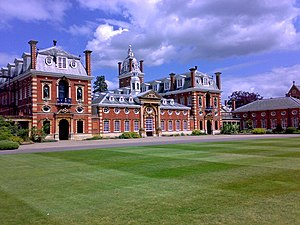 Wellington College, Berkshire - View of the main College buildings and South Front.