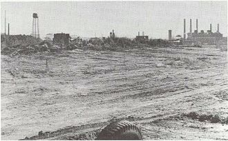 Wellington (MBTA station) - Wellington Dump in 1972, shortly before construction of the station