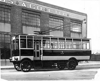 Trolleybuses in Wellington - Wellington's first trolleybus, an AEC 602