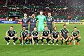 Welsh starting team for match against Austria 2016-10-06.jpg