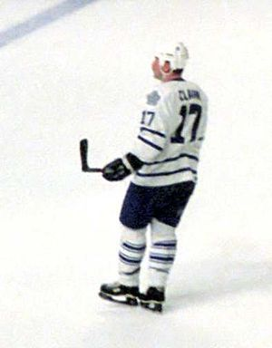 Wendel Clark - Clark with the Maple Leafs.