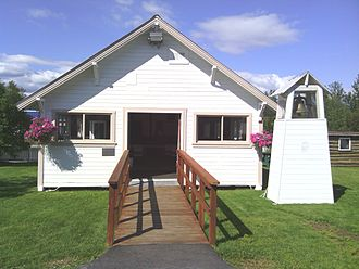 Wasilla, Alaska - The original, one-room Wasilla Elementary School