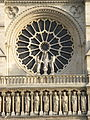 West rose window of Notre-Dame de Paris, 19 February 2007.jpg