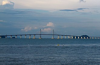 Hong Kong–Zhuhai–Macau Bridge - Image: West section of Hong Kong Zhuhai Macau Bridge (20180902174105)