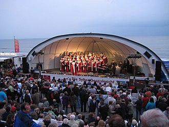 Westerland, Germany - Bandshell on the beach promenade