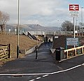 Western entrance to Energlyn & Churchill Park railway station, Caerphilly.jpg