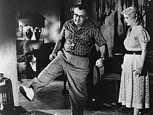 What Ever Happened to Baby Jane? (film) 1962 - Production photo. Robert Aldrich, Bette Davis.jpg