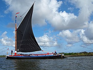 Albion (wherry) - Albion near Ludham