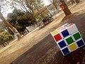 White speed cube at University of Ilorin premises.jpg