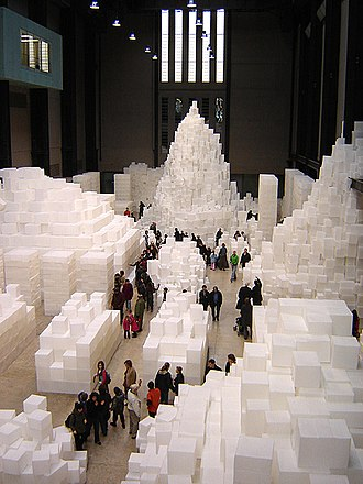 Installation art - Rachel Whiteread, Embankment at Tate Modern, London