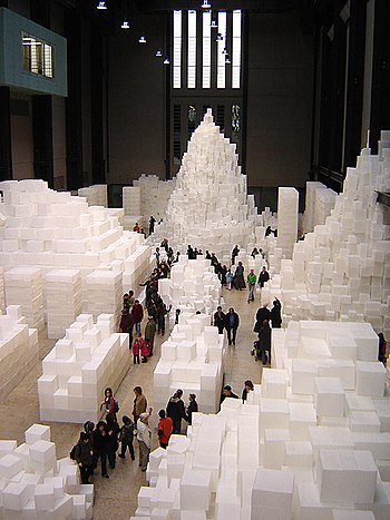 Rachel Whitread. Embankment at Tate Modern.