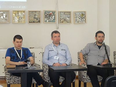 WikiLive 2015, Conference day 2, Filip, Djordje, Goran - WikiPolicy - Panel, 06.JPG