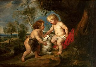 Holy infant and St. John the Baptist