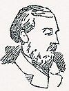 Sketch of William Henry Bury, taken from a February 1889 newspaper