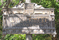 Windermere Florida business district sign