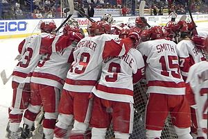 English: Wisconsin Badgers men's ice hockey pr...