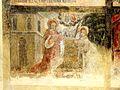 Wissous (91), église Saint-Denis, bas-côté, fresque de sainte Barbe, 4e tableau.jpg