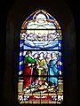 Wissous (91), église Saint-Denis, bas-côté, vitrail n° 8 - sainte Cécile.jpg