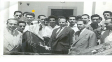 Ammar with historical leader Ferhat Abbes and Krim Belkacem (1959)