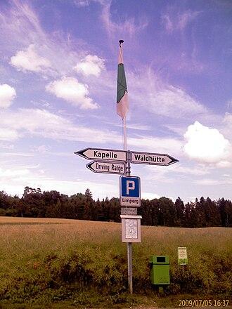 Wittnau, Aargau - Sign in Limperg village in Wittnau