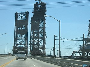 New Jersey Route 7 - Route 7 crosses the Hackensack River on the Wittpenn Bridge