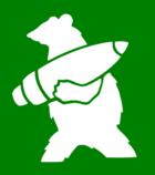 Wojtek niosący pocisk armatni – logotyp 22 Kompanii Zaopatrywania Artylerii umieszczany na wszystkich pojazdach jednostki