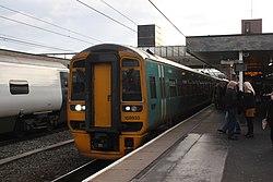 Wolverhampton - Keolis Amey 158833+158824 (Arriva livery).JPG