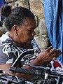 Woman Knitting in Market - El Valle de Anton - Cocle Province - Panama (11503312065).jpg