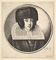 Woman with stiff lace collar and flat-crowned fur hat MET DP823892.jpg