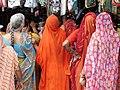 Women in Saris - Kanyakumari - India.JPG