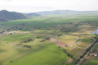 Wood River Valley - Aerial view of Wood River Valley
