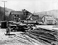 Wood supplies in front of Camp No 2, Washington, December 12, 1911 (INDOCC 1783).jpg