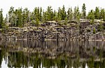 Rock wall at Woodland Caribou Provincial Park.