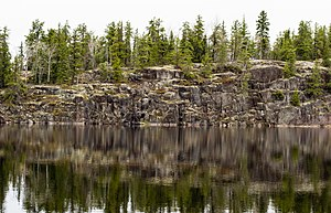 Woodland Caribou Provincial Park - Rock wall