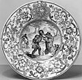Workshop of Carlo Antonio Grue - Plate with Two Knights Fighting Bears - Walters 481752.jpg