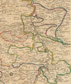The Prince-Bishopric of Speyer circa 1700