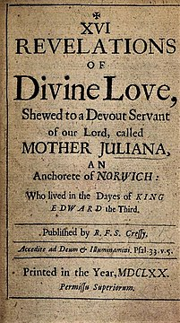 XVI Revelations of Divine Love (title page, 1670 edition)