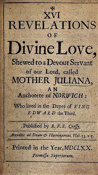 Julian of Norwich - XVI Revelations of Divine Love (title page, 1670 edition)