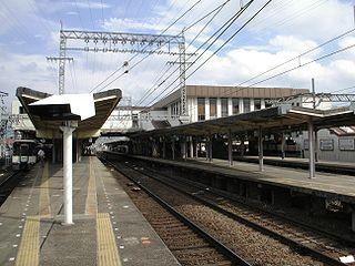 railway station in Nara, Nara prefecture, Japan